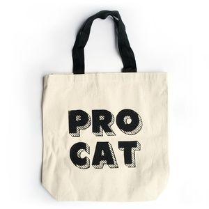 """Handbags - """"Pro cat"""" canvas tote bag"""